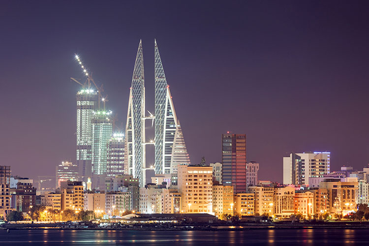 Skyline-of-Manama-at-night-Bahrain