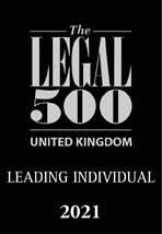 Legal500 - leading individual 2021