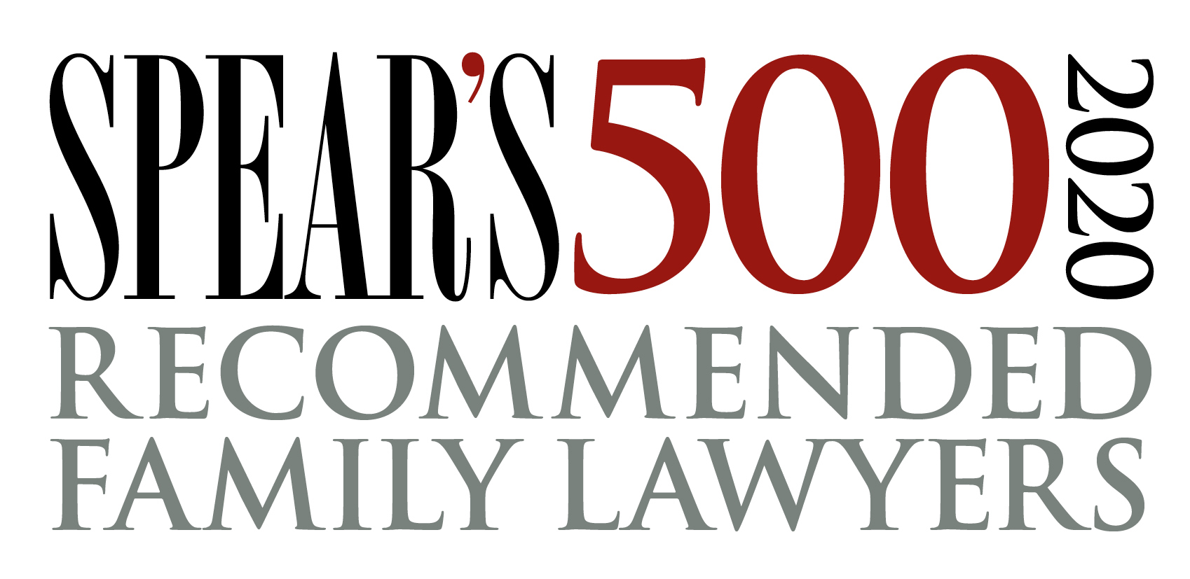 Spear's 500 2020 Recommended Family Lawyers