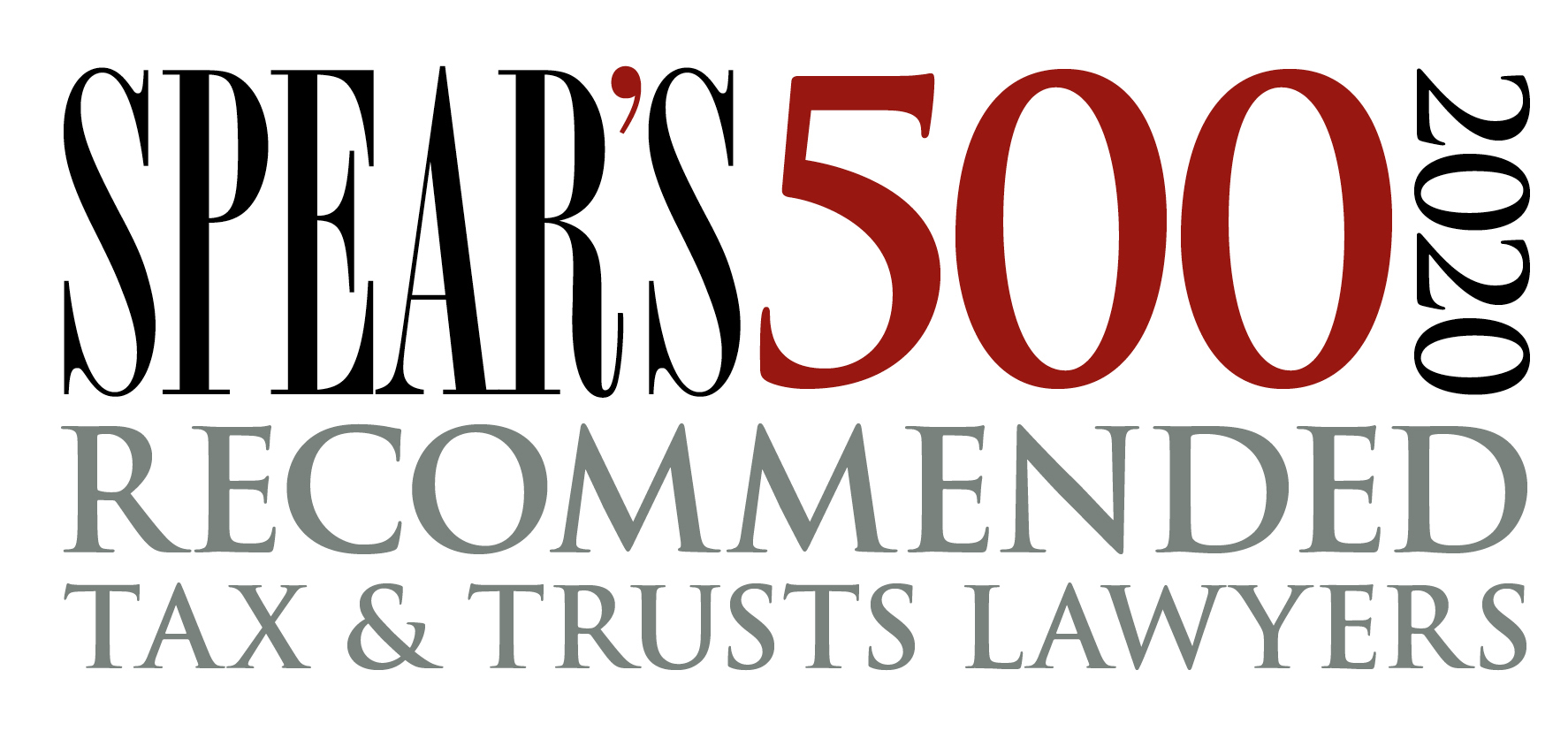 Spear's 500 2020 Recommended Tax and Trust Lawyers