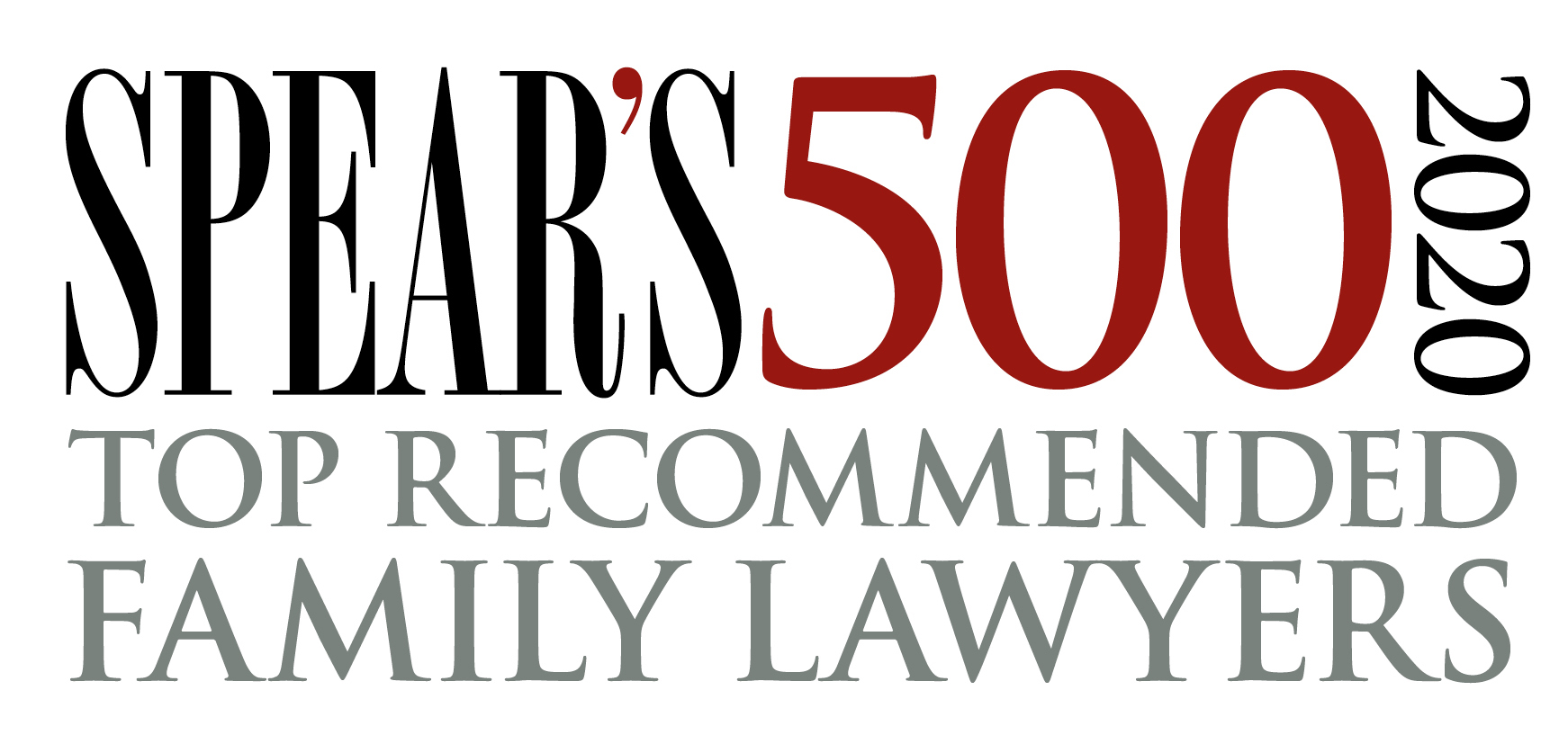 Spear's 500 2020 Top recommended family lawyers