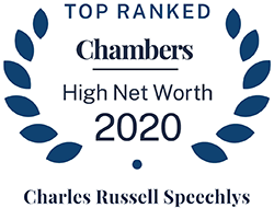 Chambers Top Ranked HNW 2020