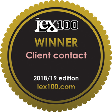 The Lex100 2018/19 - Winner: Client contact