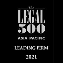 Legal 500 Asia Pacific 2021