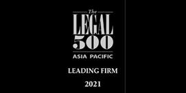 Legal 500 APAC 2021