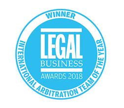 2018 Legal Business Awards - International Arbitration