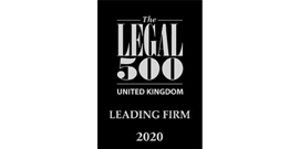 Legal 500 Leading Firm 2020