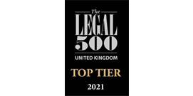 Legal 500 Top Tier UK 2021