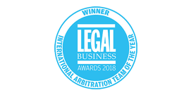 Legal Business 2018 - International Arbitration Team of the Year